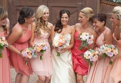 mismatched bridesmaid dresses LOVE LOVE LOVE THIS IDEA AND THE COLORS ARE AWESOME!
