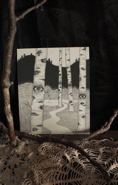 Watching Birches - Print by lvcernarivm on Etsy https://www.etsy.com/listing/207221330/watching-birches-print
