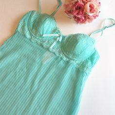 Victoria secret pleated chiffon lace nightie I never wore it, but it no longer has tags •no trades• Victoria's Secret Intimates & Sleepwear Chemises & Slips