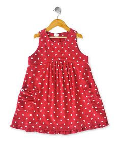 {Ruby Pleated Dress - Infant, Toddler & Girls by Eternal Creation} Cute for Valentine's Day...