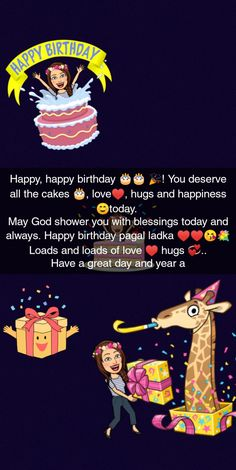 Happy Birthday Best Friend Quotes, Birthday Quotes For Girlfriend, Happy Birthday Quotes For Friends, Birthday Girl Quotes, Happy Birthday Fun, Happy Bday Wishes, Short Birthday Wishes, Birthday Wishes And Images, Birthday Captions