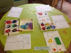 Painting with numicon Numicon Activities, Numeracy, Preschool Activities, Daily Math, Very Hungry Caterpillar, Math For Kids, Eyfs, Pre School, Mathematics