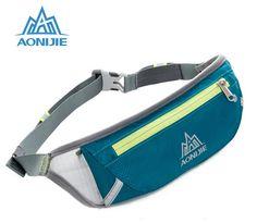 US $6.49 AONIJIE Movement Pockets Men Women Outdoor Sports Money Belt Sport Bag Waterproof Nylon Fanny Pack Marathon Running Bags 5Styles