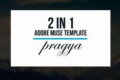 Pragya - 2 In 1 Muse Template by Creative Slides on @creativemarket