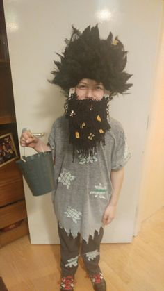 Home made Mr Twit costume for world book day