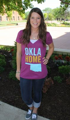 OklaHome vneck shirt by Pop Prints.