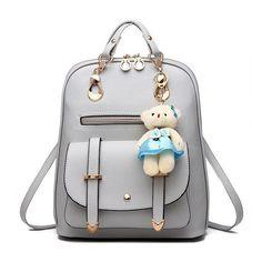 Women Backpacks Simple Style Female PU Leather Backpacks Mochila Ladies Fashion Backpacks Stylish School Bags For Teenage Girls