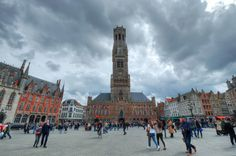 https://flic.kr/p/SnyS41 | Belfry of Bruges and Market, Belfort, Brugge, Belgium | en.wikipedia.org/wiki/Belfry_of_Bruges  IMG_8340_1_2_tonemapped_nw