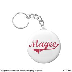 Magee Mississippi Classic Design Basic Round Button Keychain