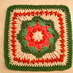Ravelry: Project Gallery for Nosegay Square pattern by Priscilla Hewitt