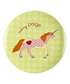 Loving this Unicornetta Personalized Plate on #zulily! #zulilyfinds