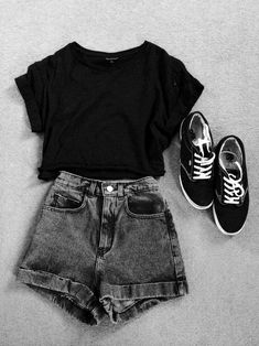 Casual School Outfits, Teenage Outfits, Cute Comfy Outfits, Cute Summer Outfits, Stylish Outfits, Easy Outfits, Simple Teen Outfits, Short Outfits, Simple Outfits For School