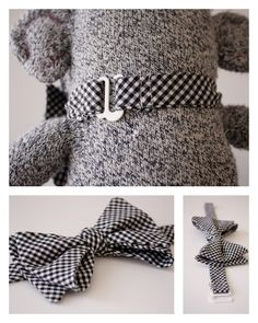 Lil' Mister Bow Tie - delia creates @rjc176 I love this pattern. It's a real bow tie but also removable.