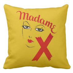 graphic pillows | ... Madame X Movie Film Bold Graphic Woman Throw Pillows from Zazzle.com