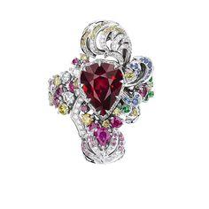 「ディオール」ヴェルサイユ宮殿の庭園が着想のハイジュエリー、瑞々しい草花をダイヤモンドやエメラルドで 写真2