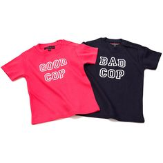 Good Cop / Bad Cop Twins T-shirts - a great funny #gift for #twins