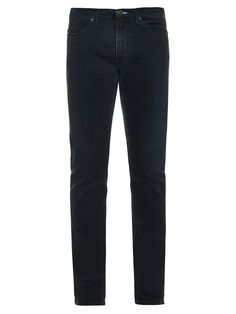 Max Man Ray is one of Acne Studios's signature jean styles, loved for its easy, slim-leg fit. Made from dark navy-blue denim, this pair is lightly faded and features a 3-D whiskering effect across the straight, narrow legs.
