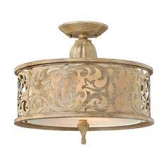 Fredrick Ramond FR44621BCH         2-100w  Semi Flush Ceiling Light, Brushed Champagne - Lighting Universe