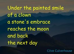 Poetry from Clive Culverhouse - see more on my blog - clown, clowns, mask, masks, emotions, depression, mental health Short Poems, Clowns, Depression, Mental Health, Masks, Poetry, About Me Blog, Small Poems, Imperial Crown