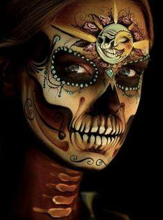 Skull Makeup, Sugar Skull, Halloween Face Makeup, Skulls, Tattoo, Art, Art Background, Sugar Skulls, Kunst