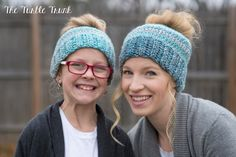 A personal favorite from my Etsy shop https://www.etsy.com/ca/listing/489067710/mommy-and-me-bun-hat-set-kids-and-womens