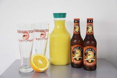 Beer-Mossa...I'll never do brunch the same again...nix the shock top and replace with a quality Belgian style beer.