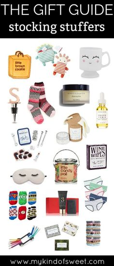 THE GIFT GUIDE: Stocking Stuffers | gift ideas | gift guide 2017 | christmas gift ideas for her | gift ideas for kids | my kind of sweet