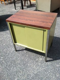 1970s Small Metal Cabinet