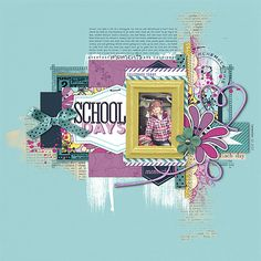 great colors in this #scrapbook page from Kayleigh at DesignerDigitals.com