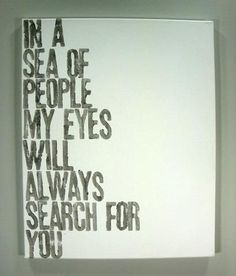 In a Sea of People - Quote on Canvas