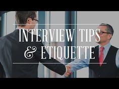 Job Interview Tips & Etiquette - http://LIFEWAYSVILLAGE.COM/how-to-find-a-job/job-interview-tips-etiquette/