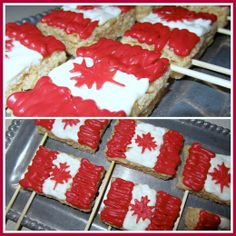 Canada Day rice crispies