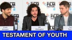 """Testament of Youth"" full press conference with Kit Harington, Colin Morgan, and Taron Egerton"