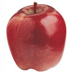 Manzana red delicious. ¿La manzana de Blancanieves? Es roja y su pulpa muy blanca. Muy buena para comer cruda pero no tanto para cocinarla, pues es poco harinosa.