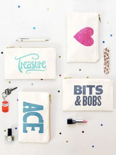Little Canvas Pouch - Treasure | Shop | Alphabet Bags
