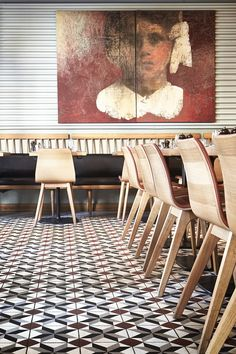 kopapa restaurant interior showing tiled floor