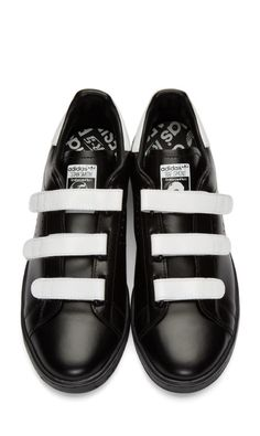 831db2a0090 Raf Simons Black adidas Edition Stan Smith Comfort Sneakers from SSENSE (men