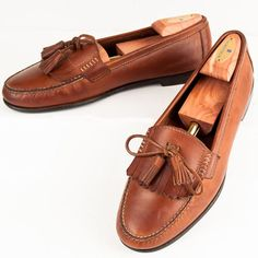 11 M Bass Leather Kiltie Loafers Tassle Boat Deck Tie Shoes Mens Casual Brown #MensShoes #SomeLikeItUsed