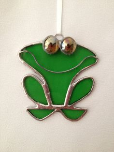 Stained Glass Christmas Ornament: Frog by Mama Agee on Etsy, $7.50