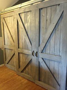 Barn doors for inside on pinterest barn doors sliding for Barn doors to separate rooms