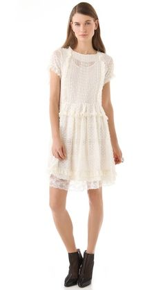 RED Valentino  Short Sleeve Paneled Dress  $795.00