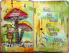 Art Journal - Stampotique Design challenge by thekathrynwheel, via Flickr