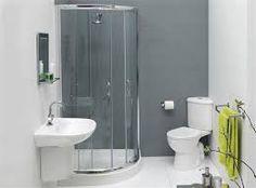 corner toilet & standing shower