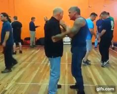 """""""Forearm Blast to Chin Rip"""" - Kelly McCann & Lee Morrison Fight Techniques, Martial Arts Techniques, Self Defense Techniques, Self Defense Moves, Self Defense Weapons, Israeli Self Defense, Combat Training, Hand To Hand Combat, Martial Arts Workout"""