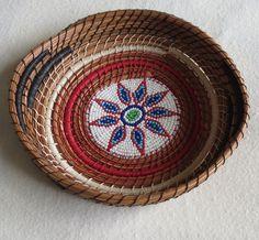 Handmade pine needle art basket Little Flower by TwistedandCoiled