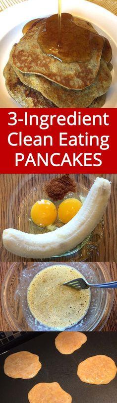 Healthy 3-Ingredient Banana Egg Pancakes - gluten-free, sugar-free, grain-free! Must try this! | MelanieCooks.com