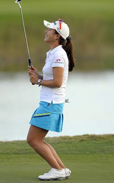 Hee Young Park celebrates her first LPGA Tour victory at the Titleholders, Sunday, Nov. 20, 2011. Yet another very talented - and very pretty - golfer from South Korea.