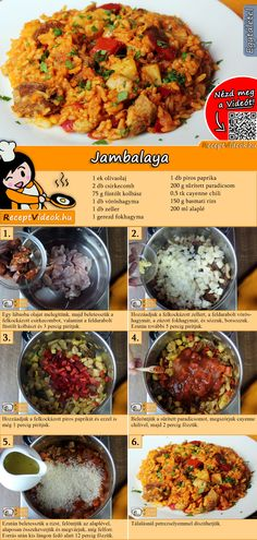 Making a Jambalaya recipe with a video Meat Recipes, Dinner Recipes, Cooking Recipes, Healthy Recipes, Good Food, Yummy Food, Hungarian Recipes, Southern Recipes, International Recipes