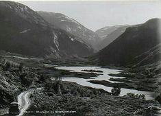 Oppland fylke Lom kommune Bøverdalen fra Bøvertjønnhalsen brukt 1952 Utg Normann
