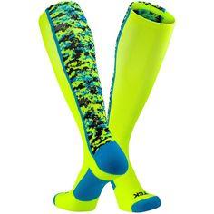 TCK Digital Camo OTC Socks ($15) ❤ liked on Polyvore featuring intimates, hosiery, socks, camoflage socks, sports socks, camo socks, camouflage socks and sport socks